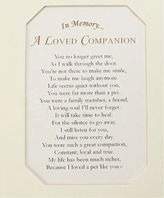 pet poems and quotes | Loved One: Pet Loss Frame: Personalized ...