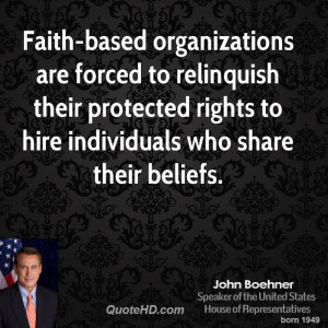 Faith-based organizations are forced to relinquish their protected ...