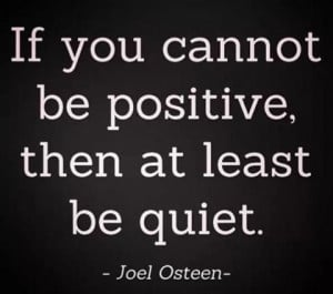 Joel Osteen. Positivity.