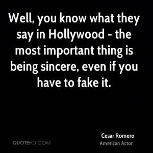 Cesar Romero Quotes