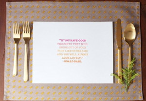 DIY Dinner Party Placemats