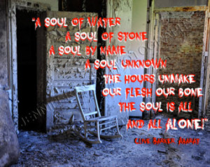 ... Goth Quote Art 8x10 Photo Black Wooden Frame Abandoned Mental Hospital