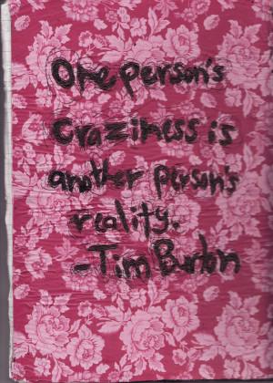Tim Burton Quote by Zaize