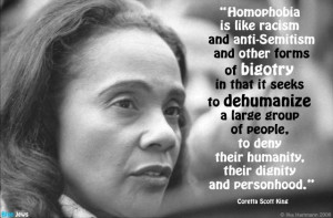 Coretta Scott King on homophobia