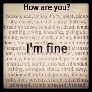 alone, angry, cold, lonely, broken, crying, giving up, text, cutting ...