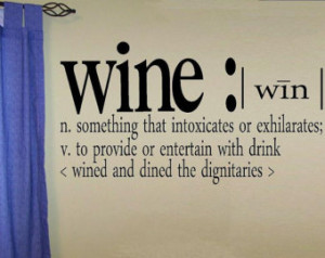 wall decal - wine definition - quot e ...