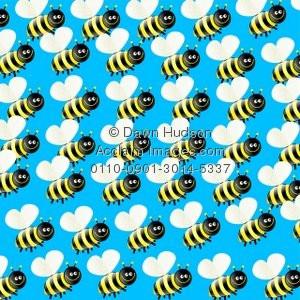 ... Poster Print of Cute Cartoon Bumble Bee Wallpaper Background Design