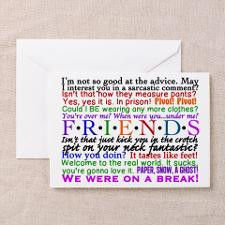 Friends TV Quotes Greeting Card for