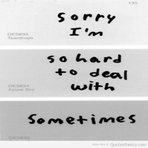 depression apology Eatingdisorders anorexia sorry Quotes
