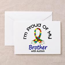 Proud Of My Autistic Brother 1 Greeting Card for