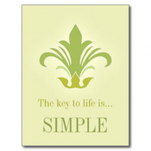 Zen buddhist wisdom life quote postcard