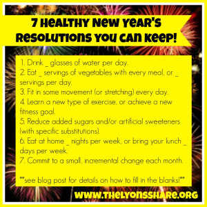 re looking for a New Year's Resolution that will improve your health ...