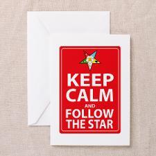 Keep Calm Follow the Star Greeting Card for