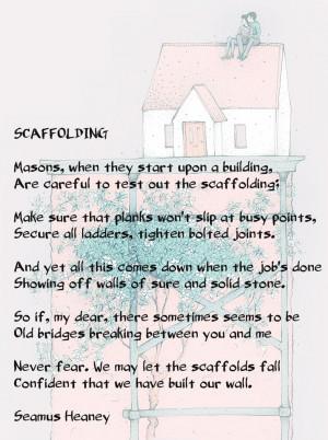 Seamus Heaney - Scaffolding