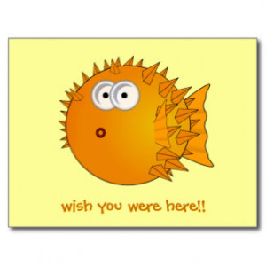 Puffer Fish Funny Sayings Birthday Cards From Zazzle