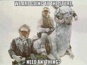 we are going to the store dr heckle funny winter star wars memes