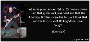 it 39 s a heavy metal band name if there ever was one scott ian