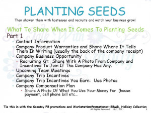 Direct Sales Tip Talk With Wicklessmolly Planting Seeds What To Share ...