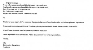 Remarkably, this email exchange occurred after Facebook assured EFF it ...