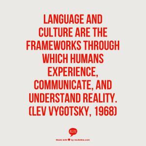 ... , and understand reality. (Social Constructivism, Lev Vygotsky, 1968