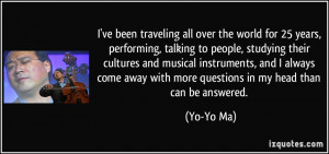 More Yo-Yo Ma Quotes