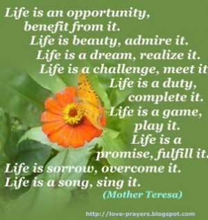 Live each day to the fullest! :)