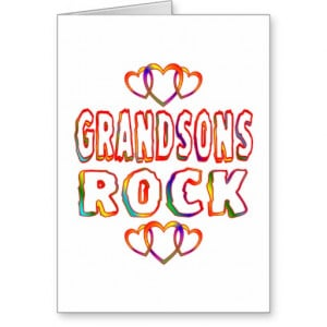 Grandsons Rock Cards