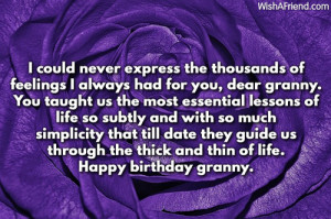Birthday Quotes For Grandma...