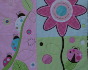 ... Throw Wall Hanging in Floral Butterfly Ladybugs and Vibrant Colors