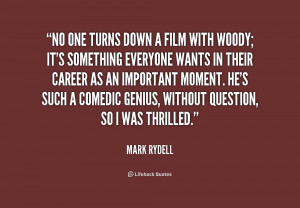 It's sad - it's sad for us old enough to remember when directors ruled ...