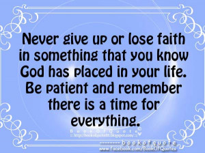 are you patience in gods plan for me quotes about gods plan for me