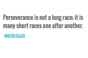 ... long race; it is many short races one after another. — WALTER ELLIOT