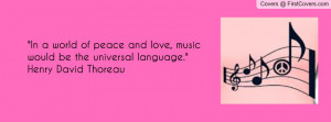 Peace Love Music Quote And Pic cover