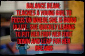 Gymnastics Gymnast Deep Quote...