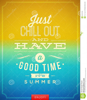 Vintage poster with summer holidays vacation quote.