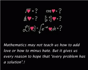 Mathematics May Not Teach Us How To Add Love… - IdleHearts