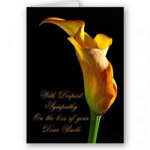 Sympathy Card for an Uncle