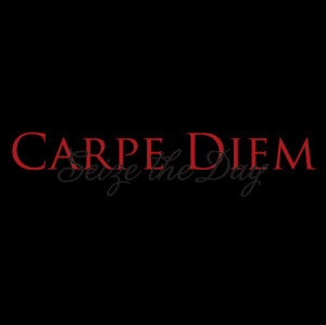 Seize The Day Trajan Pro Wall Quotes™ Decal