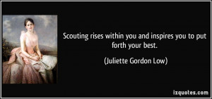Scouting rises within you and inspires you to put forth your best ...