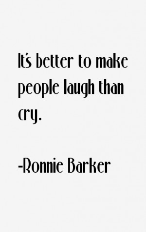 Ronnie Barker Quotes & Sayings