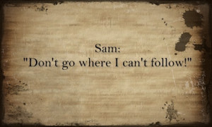 quote from Samwise the Brave. How sad is it that I immediately thought ...