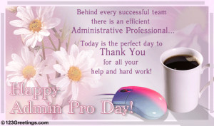 ... Administrative Professionals Day® [Apr 24] » Happy Administrative