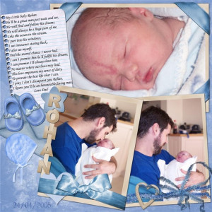baby boy scrapbook ideas
