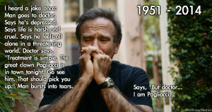 robin williams the sad clown