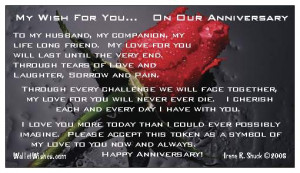 Wedding Anniversary Quotes For Husband #1