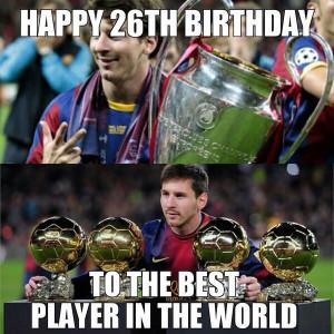 Happy birthday, Messi!