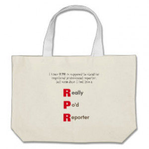 Funny RPR Court Reporting Canvas Bags