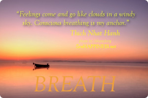 Feeling and breathing quotes, Thich Nhat Hanh Quotes
