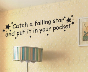 Catch a Falling Star Nursery Wall Decal Quote