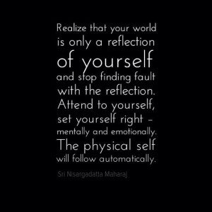 reflection of yourself quote